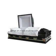 Neo Blue Shaded Black Finish Casket (Oversize)